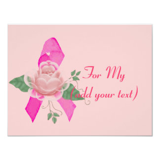 Breast Cancer Support 4.25x5.5 Paper Invitation Card