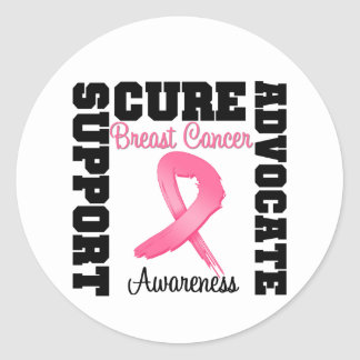 Breast Cancer Support Advocate Cure Stickers