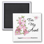 Breast Cancer Support Aunt Fridge Magnets
