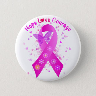 Breast Cancer Support Button