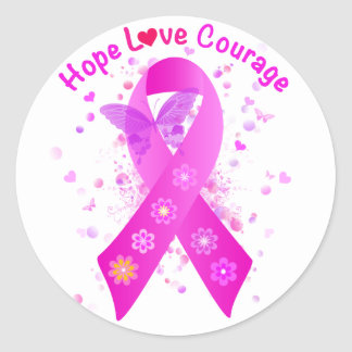 Breast Cancer Support Classic Round Sticker