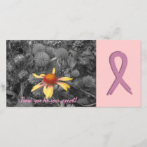 Breast Cancer Support Customizable Photo Card