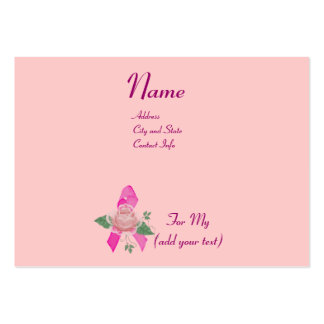 Breast Cancer Support Large Business Card