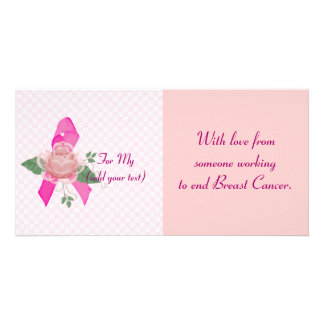 Breast Cancer Support Photo Card
