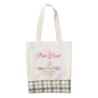 Breast Cancer Support Pink Heart Martini Arrow Zazzle HEART Tote Bag