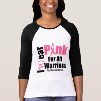 Breast Cancer Support Pink Ribbon All Warriors T-Shirt
