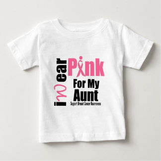 Breast Cancer Support Pink Ribbon Aunt Infant T-shirt