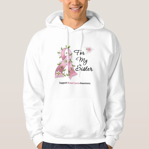 Breast Cancer Support Sister Hooded Pullover
