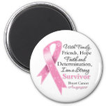 Breast Cancer Support Strong Survivor Refrigerator Magnets