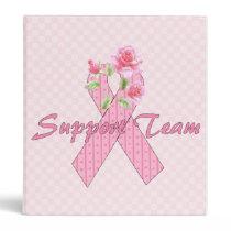 Breast Cancer Support Team 3 Ring Binder