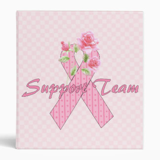 Breast Cancer Support Team 3 Ring Binder