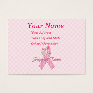Breast Cancer Support Team Business Card