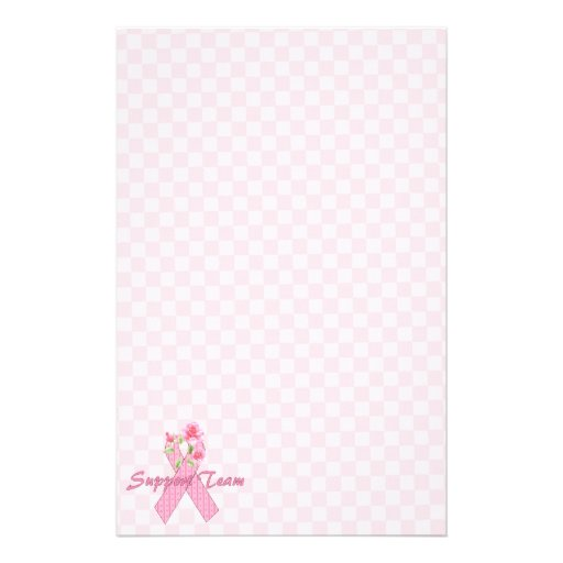 Breast Cancer Support Team Stationery