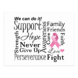 Breast Cancer Supportive Words Postcard