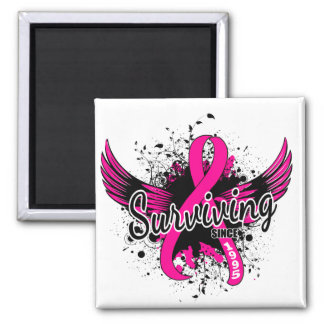 Breast Cancer Surviving Since 1995 2 Inch Square Magnet
