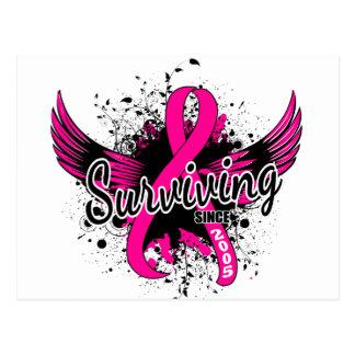 Breast Cancer Surviving Since 2005 Postcard