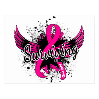 Breast Cancer Surviving Since 2016 Postcard