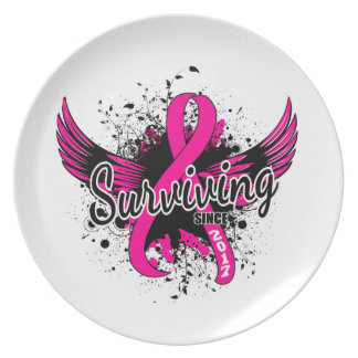 Breast Cancer Surviving Since 2017 Party Plates