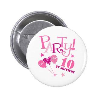Breast Cancer Survivor 10 Year Button