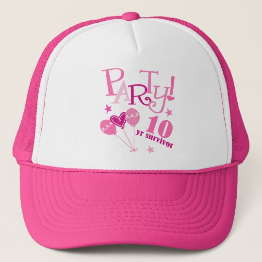 Breast Cancer Survivor 10 Year Trucker Hat