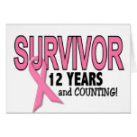 BREAST CANCER SURVIVOR 12 Years & Counting Greeting Card