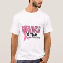 BREAST CANCER SURVIVOR 13 Years & Counting T-Shirt