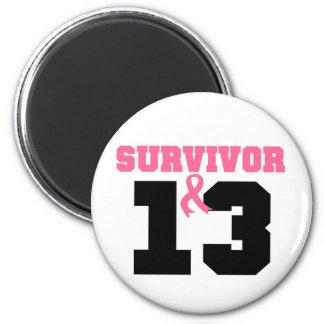 Breast Cancer Survivor 13 Years Fridge Magnet