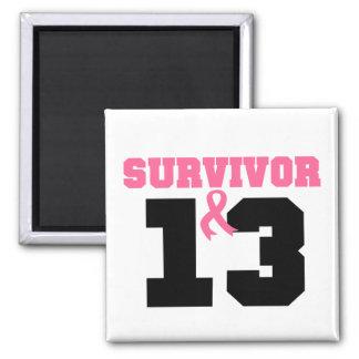 Breast Cancer Survivor 13 Years Magnets