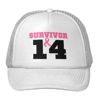 Breast Cancer Survivor 14 Years Trucker Hat