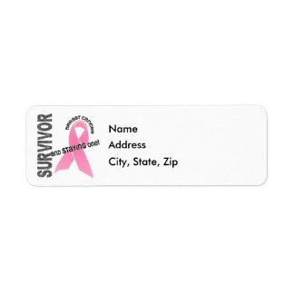 BREAST CANCER Survivor 1 Custom Return Address Label