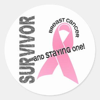 BREAST CANCER Survivor 1 Round Sticker