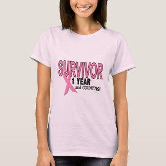 BREAST CANCER SURVIVOR 1 Year & Counting T-Shirt