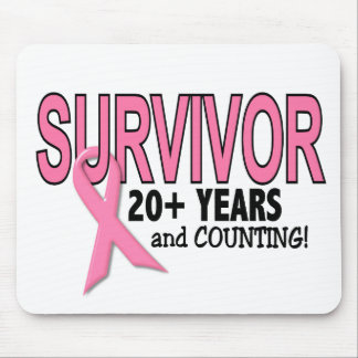 BREAST CANCER SURVIVOR 20+ Years & Counting Mouse Pad