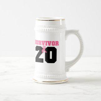 Breast Cancer Survivor 20 Years 18 Oz Beer Stein