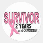 BREAST CANCER SURVIVOR 2 Years & Counting Sticker