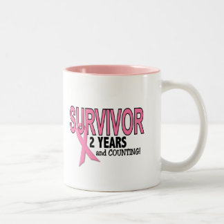 BREAST CANCER SURVIVOR 2 Years & Counting Two-Tone Coffee Mug