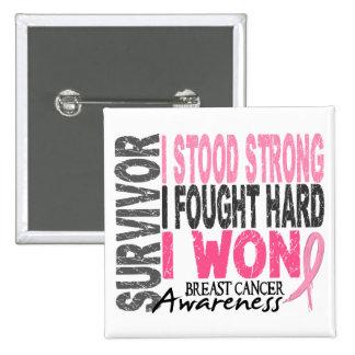 Breast Cancer Survivor 4 2 Inch Square Button