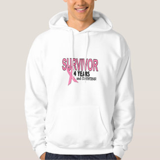 BREAST CANCER SURVIVOR 4 Years & Counting Hoodie