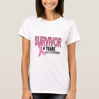 BREAST CANCER SURVIVOR 4 Years & Counting T-Shirt