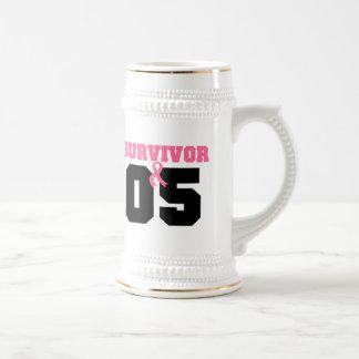 Breast Cancer Survivor 5 Years 18 Oz Beer Stein