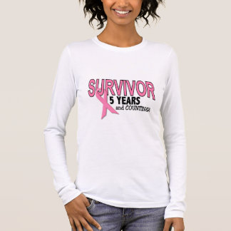 BREAST CANCER SURVIVOR 5 Years & Counting Long Sleeve T-Shirt