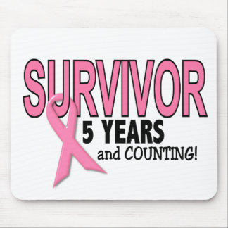 BREAST CANCER SURVIVOR 5 Years & Counting Mouse Pad