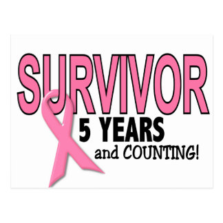 BREAST CANCER SURVIVOR 5 Years & Counting Postcard