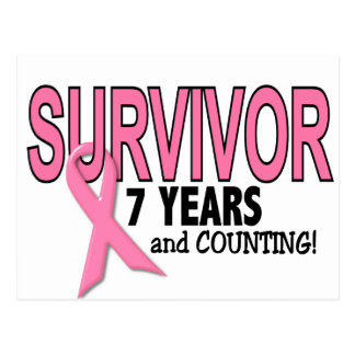BREAST CANCER SURVIVOR 7 Years & Counting Postcard