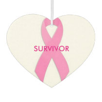 Breast Cancer Survivor Air Freshner Car Air Freshener