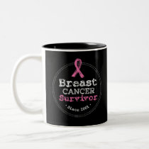 Breast Cancer Survivor Awareness Since 2001 Two-Tone Coffee Mug