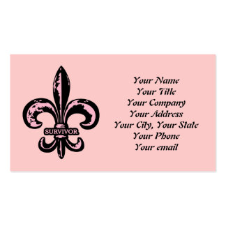 Breast Cancer Survivor Double-Sided Standard Business Cards (Pack Of 100)