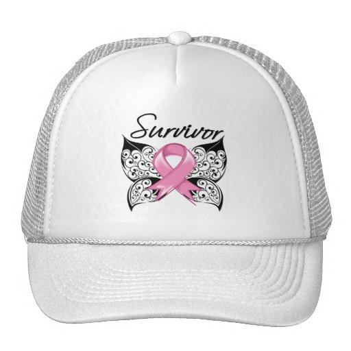 Breast Cancer Survivor Butterfly Trucker Hat