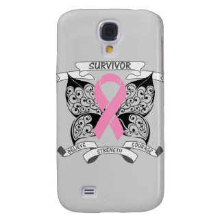Breast Cancer Survivor Butterfly Strength Samsung Galaxy S4 Cover
