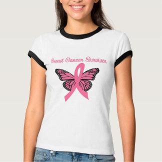 Breast Cancer Survivor Butterfly T-shirt